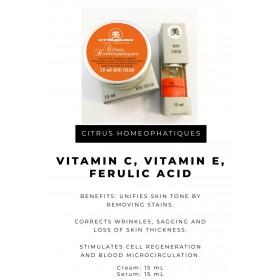 Utsukusy Citrus Homeopatique mini súprava sérum 15ml a krém 15ml