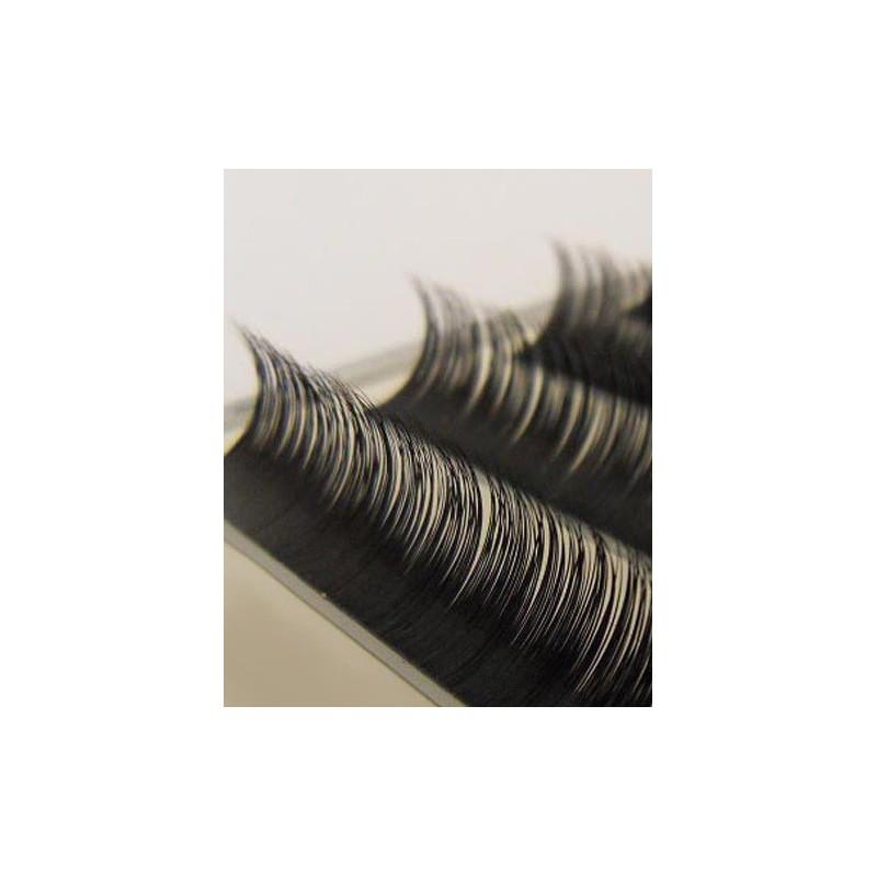 ( tvar J ) 100% norkové mihalnice , mix 9-15 mm, zásobník 12 radov