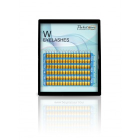 "Objemové W mihalnice tvar  3 v 1- 0,10 mm (natočenie ""C"") mix dĺžok"