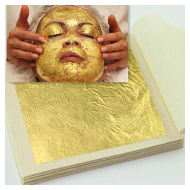 Luxusná 24k zlatá maska 12 plátkov, 4,3x4,3 cm