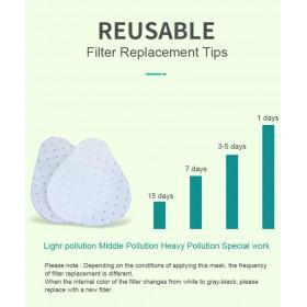 Náhradný filter k silikónovej maske 6ks